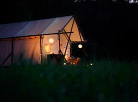 Večerní pohled na stan
