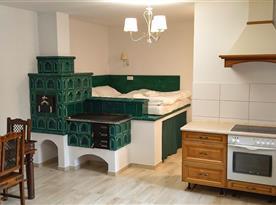 Chata Spaní na peci - ubytování  Mikulovice