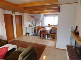 kuchyň podkrovního apartmánu