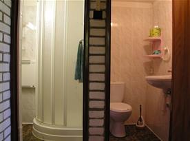 Sprcha v koupelně a WC