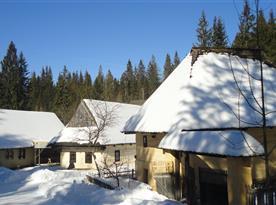 skanzén - Zuberec v zime