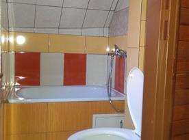 Studio v podkroví - koupelna s toaletou