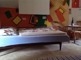 Studio v podkroví - ložnice