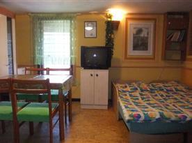 Apartmán v přízemí - společenská místnost
