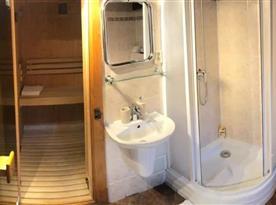 Koupelna s toaletou a saunou