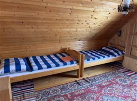 Pokoj ve druhém patře - 4 lůžka