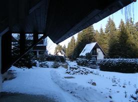 Pohled do okolního prostředí v zimě