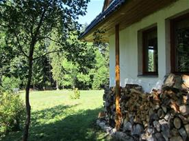 Pohlad od chaty na  našu luku