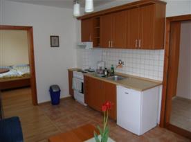 Kuchyňský kout v apartmánu B