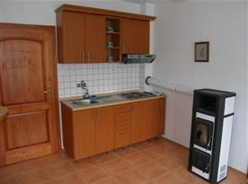 Kuchyňský kout v apartmánu A
