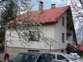 Boční pohled na dům