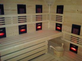 Sauna ve wellness centru