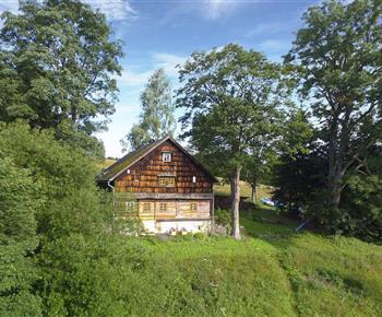 Chalupa ve Zvonkovém údolí Orlické Záhoří